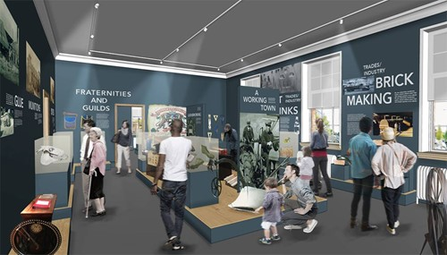 An artist's impression of the new gallery space.